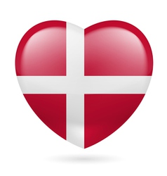 Heart icon of denmark vector