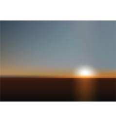 Blurred sunset background vector