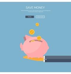 Flat saving money concept vector image