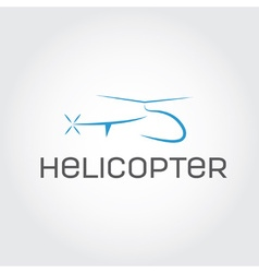 helicopter design template vector image