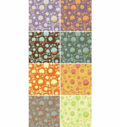 Seamless circles pattern set vector