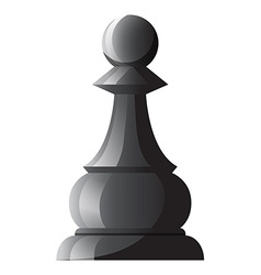 Black chess single pawn vector