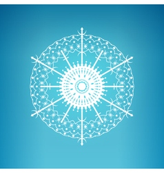 Snowflake on a blue background vector