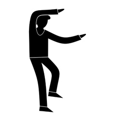 Best dance simple symbol vector