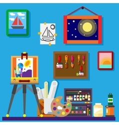 Artist workshop art gallery vector