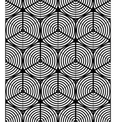 Regular contrast endless pattern with intertwine vector