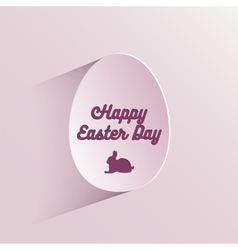 Happy easter lettering in egg on textured paper vector