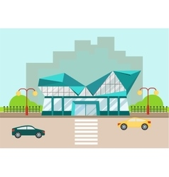 Shopping center modern facade vector
