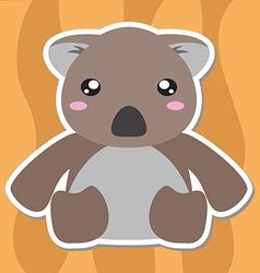 Koala Cartoon Style vector image