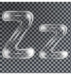Bubbles letters z vector