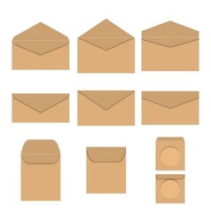 Set of paper envelopes vector image