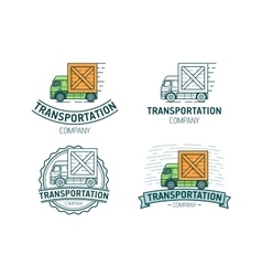 Set of transportation logo vector image