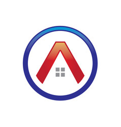 A letter house logo vector