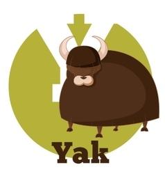 Abc cartoon yak vector