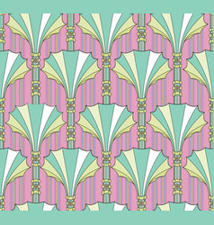 abstract floral fan shape column ornament vector image