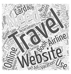 Air travel your booking options word cloud concept vector