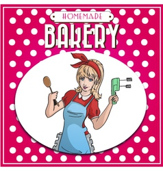 baking poster vector image