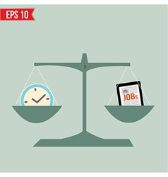Balance of time and work - - eps10 vector
