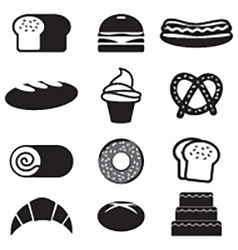 Bread And Bakery Icon Set vector image vector image