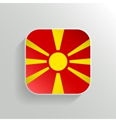 Button - macedonia flag icon vector