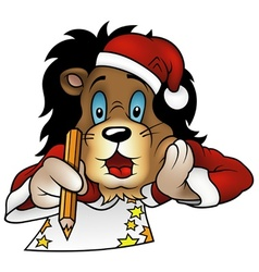 Christmas Lion vector image