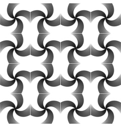 Design seamless uncolored twirl movement pattern vector