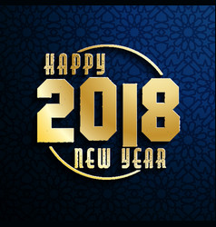 Happy new year 2018 on seamless background vector