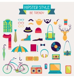 Hipster style elements and icons set for retro vector