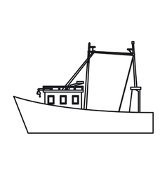 Isolated fishing boat design vector image vector image