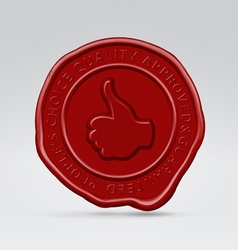 like post batch wax seal vector image vector image