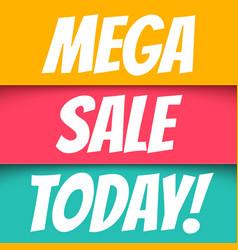 Mega sale vector