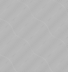 Monochrome pattern with light gray diagonal wavy vector image