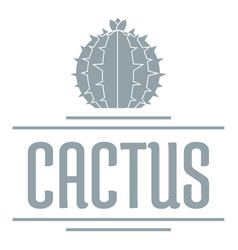 Nature cactus logo simple gray style vector