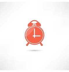 Red alarm clock vector image vector image
