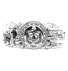 Seal of the state of utah 1904 vintage vector