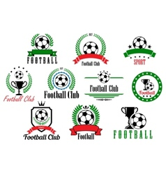 Set of football club badges and emblems vector image