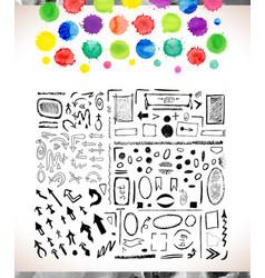 Set of watercolor arrows vector