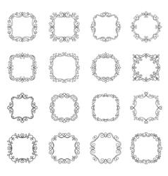 Set outline frame vector image vector image