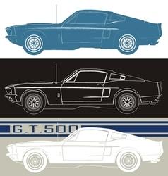 Shelby gt500 car vector