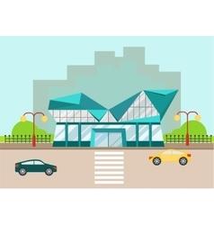 shopping center modern facade vector image
