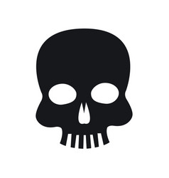 skull piracy virus technology concept vector image vector image