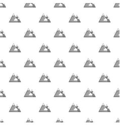Snowy mountains pattern vector