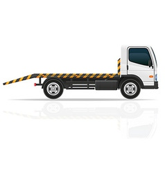 tow truck 01 vector image vector image