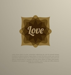 vintage badge set Great for logos and labels vector image