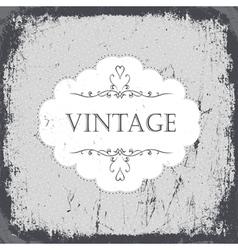 vintage grunge card monochrome vector image vector image