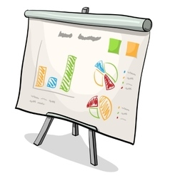 Financial board with presentation graph vector