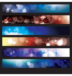 Abstract Glow Background Set vector image