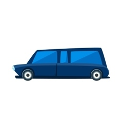 Limousine toy cute car icon vector
