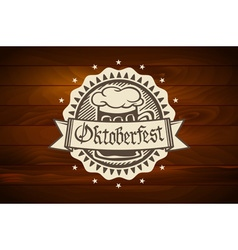 Oktoberfest retro styled label of pub or craft vector