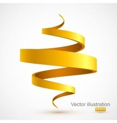 Yellow spiral ribbon vector image